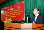 """Hội nghị Quán triệt và thực hiện Chỉ thị số 43-CT/TW ngày 08-4-2020 của Ban Bí thư """"về tăng cường sự lãnh đạo của Đảng đối với hoạt động của Hội Nhà báo Việt Nam trong tình hình mới""""."""